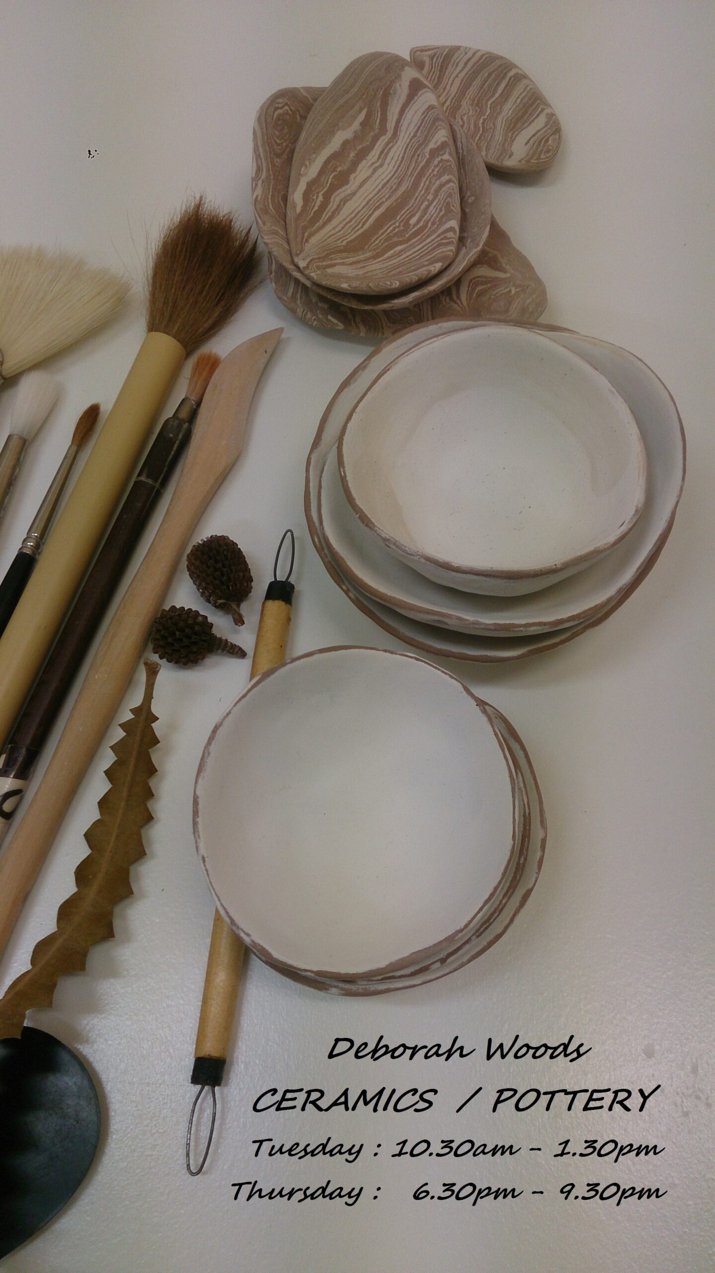 1 Deb Woods arcives – a pinch pots and tools