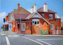 Bondi Post Office oil painting