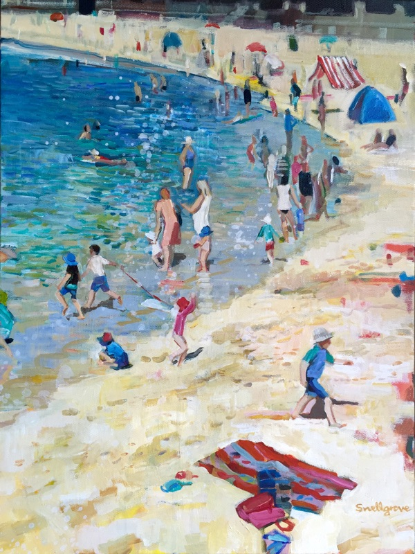 Oil painting of Balmoral Beach